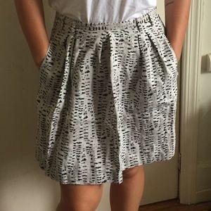 Unique Inkblot Print Linen Skirt From Madewell